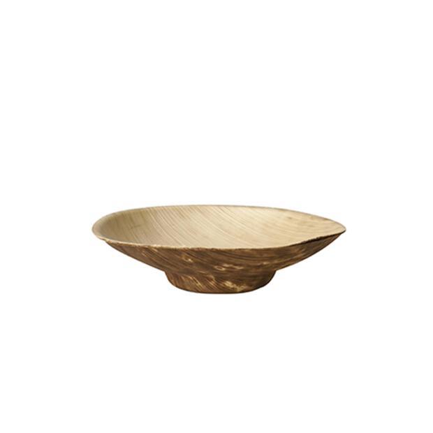 50 Papstar pure Fingerfood-Schalen aus Bambus rund 50ml Ø8,5cm x 2cm 87223