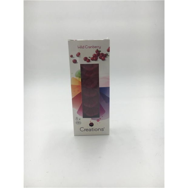8er Pack Bolsius Creations Duftwachs - Wilde Cranberry