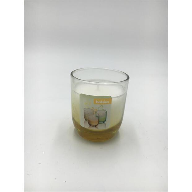 Duftglas gefüllt Ø 7,7 cm x 8,7 cm - Fading gelb
