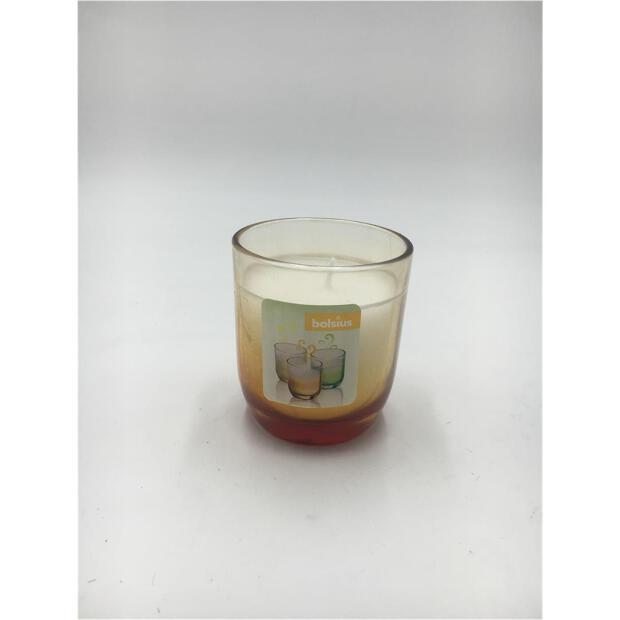 Duftglas gefüllt Ø 7,7 cm x 8,7 cm - Fading orange