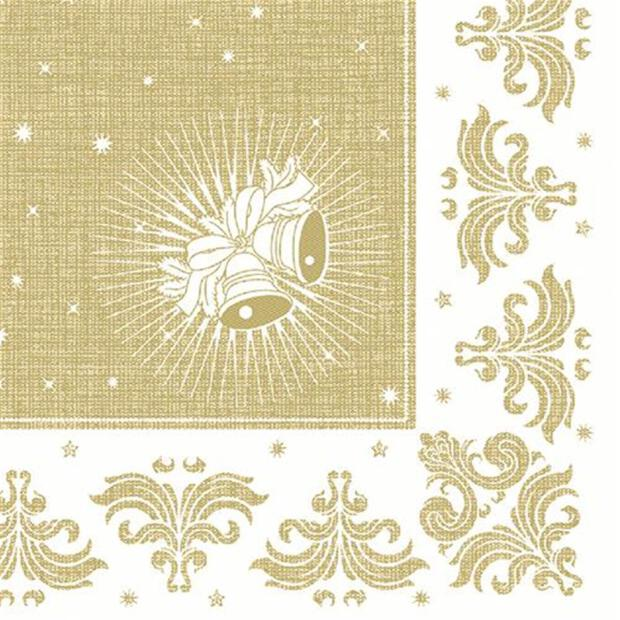 50 Servietten Papstar Royal Collection Christmas gold 40 cm x 40 cm 85028