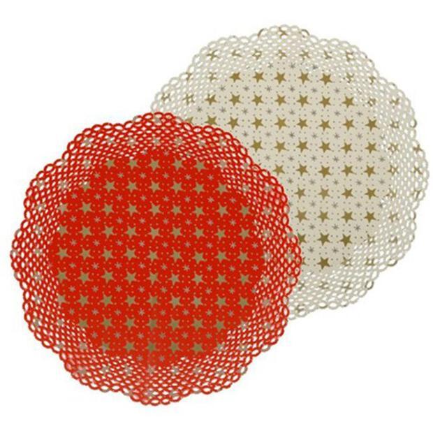 Tortenspitzen rund Ø 36 cm, weiß, 30er Pack