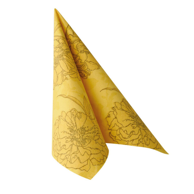"""50 Servietten """"ROYAL Collection"""" 1/4-Falz 40 cm x 40 cm gelb """"Thalia"""""""