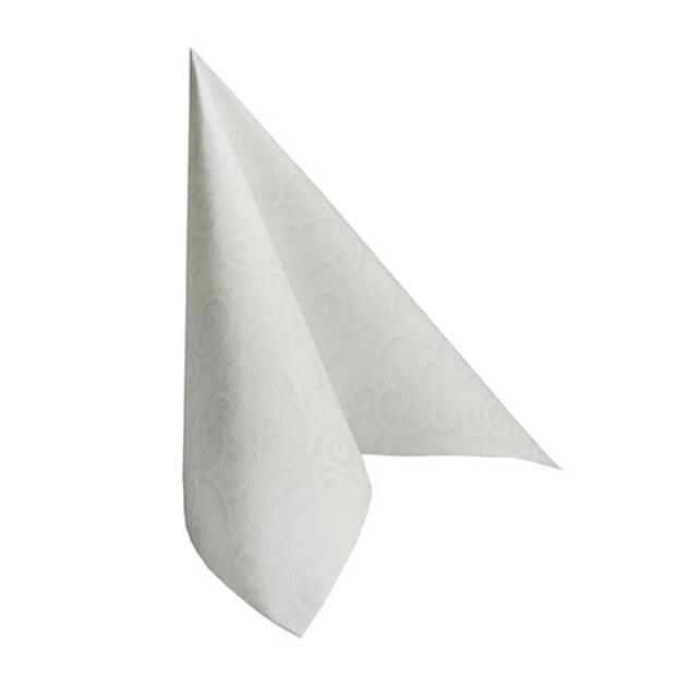 50 Servietten Papstar Royal Collection Casali weiß 40 cm x 40 cm 84876