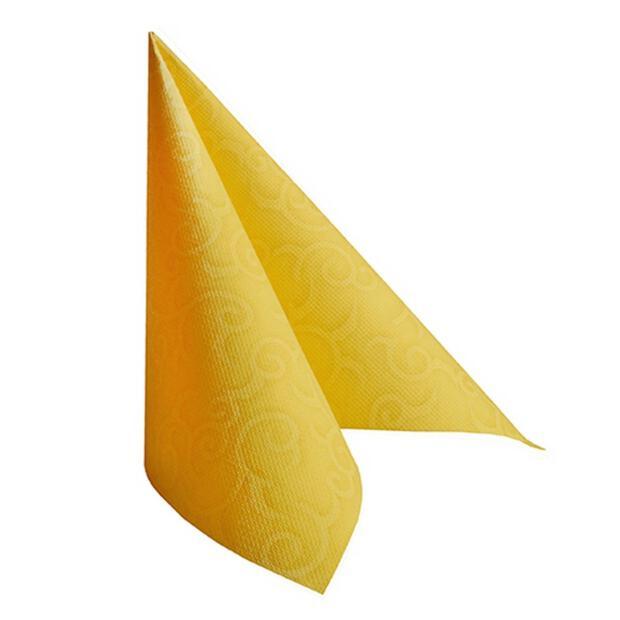 """Servietten """"ROYAL Collection"""" 1/4-Falz 40 cm x 40 cm gelb """"Casali"""""""