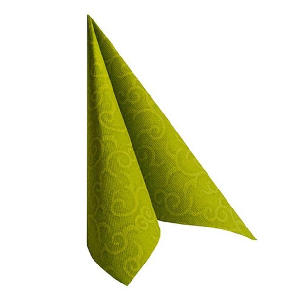 """Servietten """"ROYAL Collection"""" 1/4-Falz 40 cm x 40 cm olivgrün """"Casali"""""""