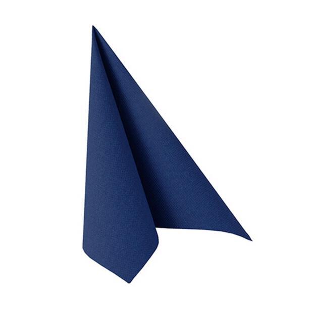 """Servietten """"ROYAL Collection"""" 1/4-Falz 25 cm x 25 cm dunkelblau"""