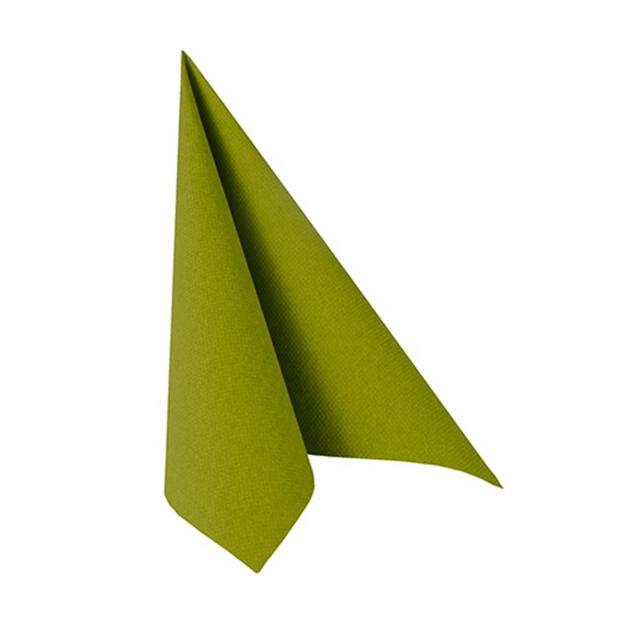 """Servietten """"ROYAL Collection"""" 1/4-Falz 25 cm x 25 cm olivgrün"""