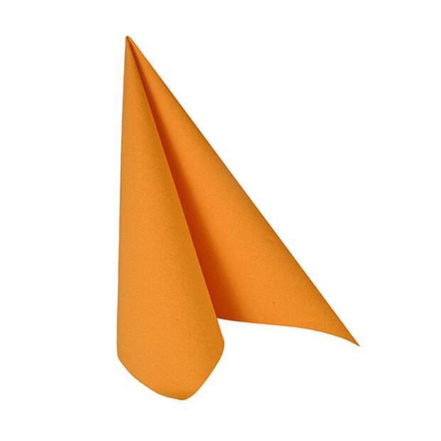 """Servietten """"ROYAL Collection"""" 1/4-Falz 25 cm x 25 cm orange"""