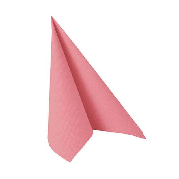 """Servietten """"ROYAL Collection"""" 1/4-Falz 25 cm x 25 cm rosa"""