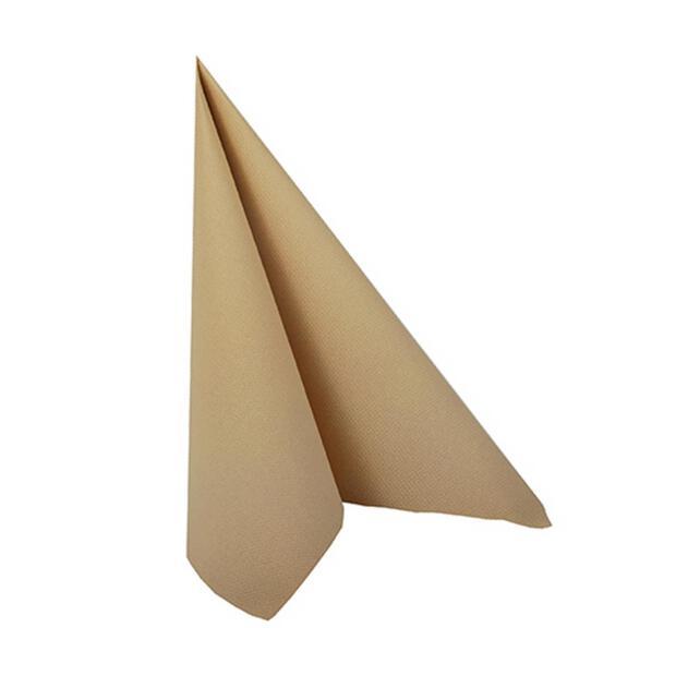 """Servietten """"ROYAL Collection"""" 1/4-Falz 25 cm x 25 cm sand"""