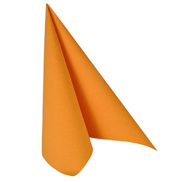 Papstar Servietten ROYAL Collection 1/4-Falz 40 cm x 40 cm orange
