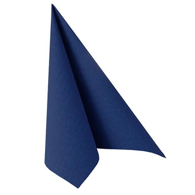 """Servietten """"ROYAL Collection"""" 1/4-Falz 40 cm x 40 cm dunkelblau"""