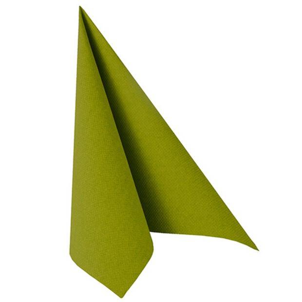 """Servietten """"ROYAL Collection"""" 1/4-Falz 40 cm x 40 cm olivgrün"""