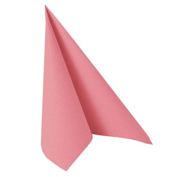 """Servietten """"ROYAL Collection"""" 1/4-Falz 40 cm x 40 cm rosa"""