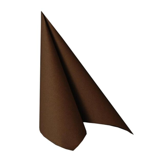 "Servietten ""ROYAL Collection"" 1/4-Falz 40 cm x 40 cm braun"