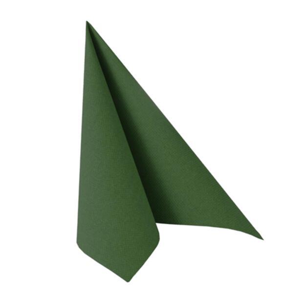 "Servietten ""ROYAL Collection"" 1/4-Falz 40 cm x 40 cm dunkelgrün"