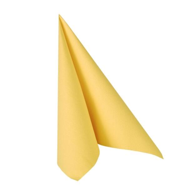 """Servietten """"ROYAL Collection"""" 1/4-Falz 40 cm x 40 cm gelb"""