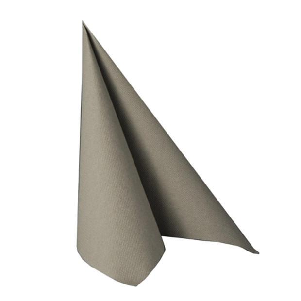 "Servietten ""ROYAL Collection"" 1/4-Falz 40 cm x 40 cm grau"