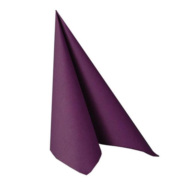 """Servietten """"ROYAL Collection"""" 1/4-Falz 40 cm x 40 cm lila"""