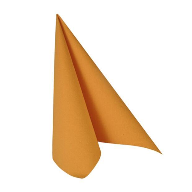 """Servietten """"ROYAL Collection"""" 1/4-Falz 40 cm x 40 cm orange"""