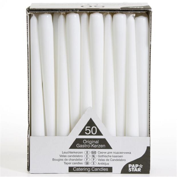 100 Leuchterkerzen Ø 2,2 cm 25 cm weiß