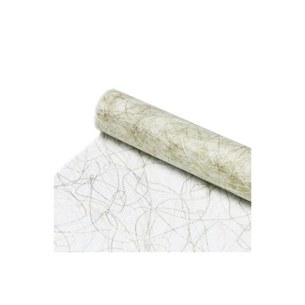 Sizoweb Vlies 30 cm x 5m 0018 weiß-gold (ZS450424101)