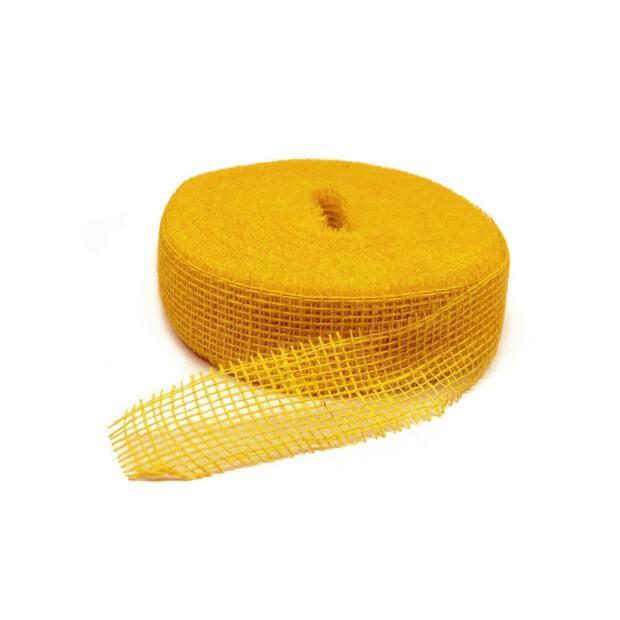 Jute Band 5cm x 40m senf gelb mustard
