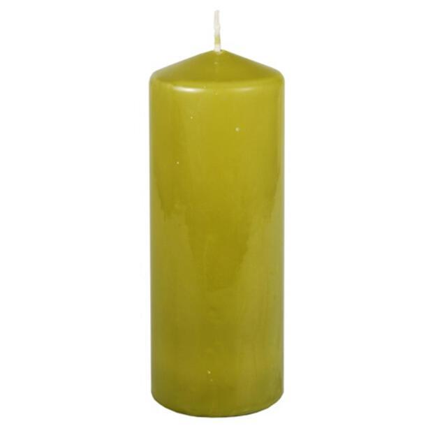Stumpenkerze Ø 69 mm · 180 mm olivgrün