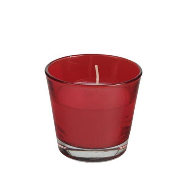Glas mit Wachsfüllung Ø 90 mm · 80 mm rot