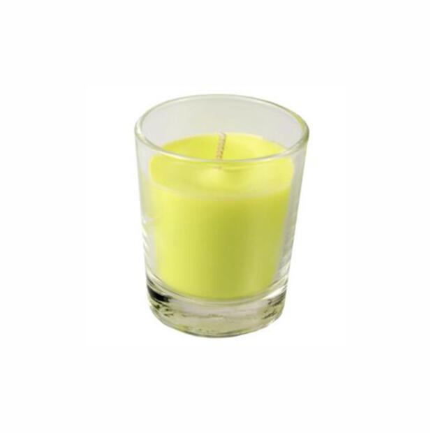 Glas mit Wachsfüllung Ø 56 mm · 67 mm limonengrün