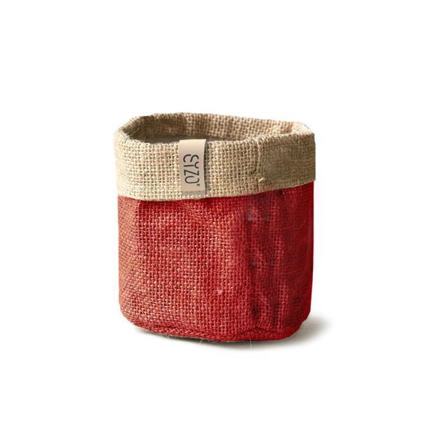 Sizobag Jute 15cm rot natur