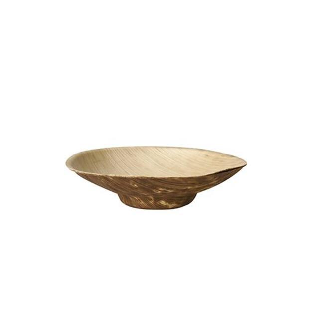 Papstar 12 Fingerfood - Schalen, Bambus pure rund 50 ml Ø 8,5 cm · 2 cm