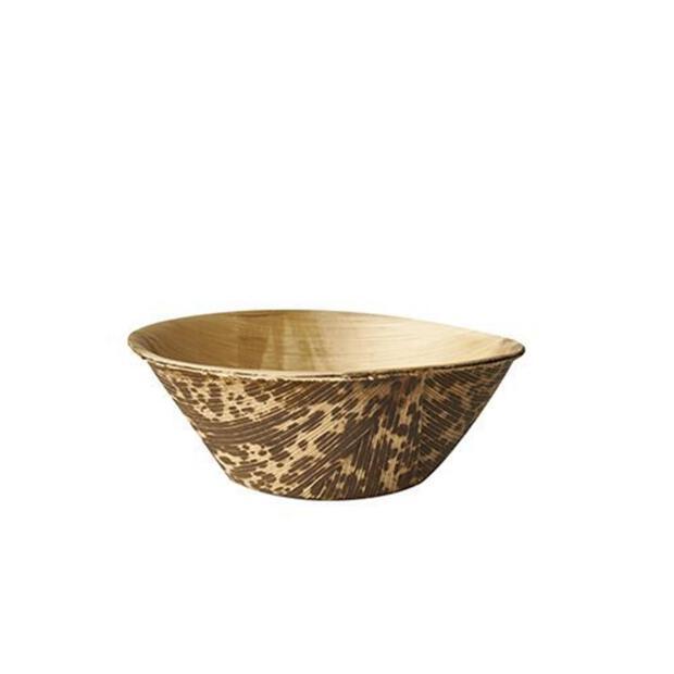 Papstar 12 Fingerfood - Schalen, Bambus pure rund 55 ml Ø 7,5 cm · 3 cm