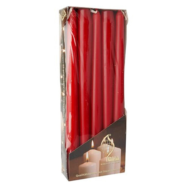 Papstar 10 Leuchterkerzen Ø 2 cm · 25 cm kirsche