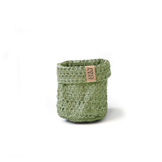 Sizobag Papier olivgrün Ø 11 cm