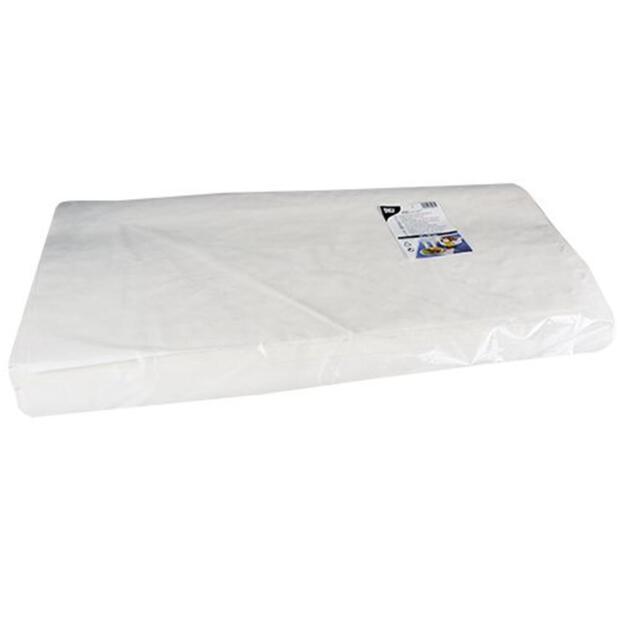 250 Blatt Papiertischtuch mit Damastprägung eckig 70 cm x 60 cm weiss