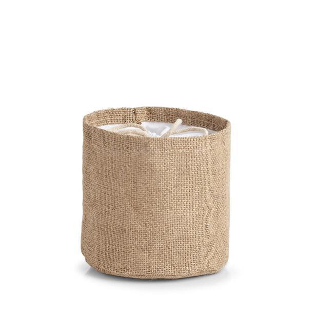 Aufbewahrungsbeutel, Jute/Baumwolle ca. Ø 16 x 16 cm