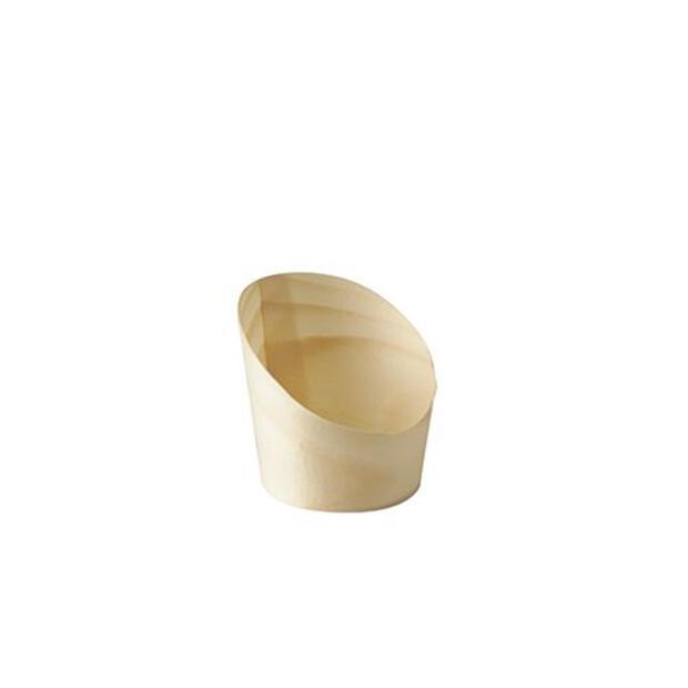 """Papstar 50 Snackbecher, Holz """"pure"""" Ø 5,5 cm · 6,5 cm"""
