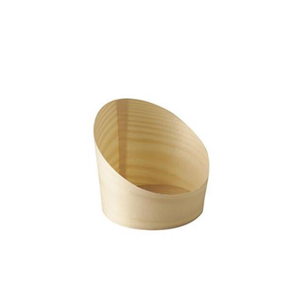 """Papstar 25 Snackbecher, Holz """"pure"""" Ø 8,2 cm · 8,5 cm"""