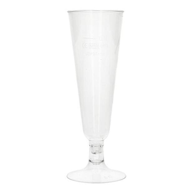"""Papstar 6 Stiel-Gläser für Sekt, PLA """"pure"""" 0,1 l Ø 5,5 cm · 16,5 cm glasklar mit glasklarem Fuß"""