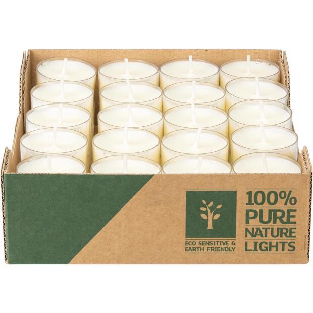 Wenzel Teelichter Naturel Lights 4 Stunden Brenndauer 60 Stück